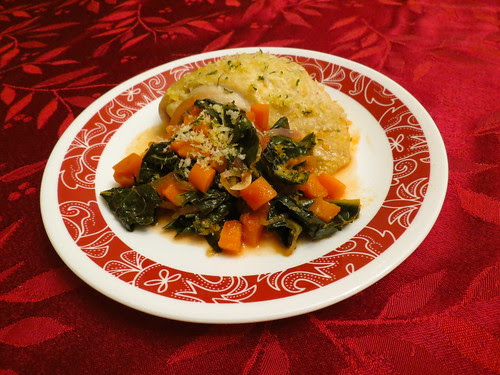 Michael Symon's Braised Chicken Thighs with Spicy Kale