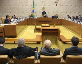 Ministros definem a pena de réus no julgamento do mensalão. (Foto: Nelson Jr./SCO/STF)