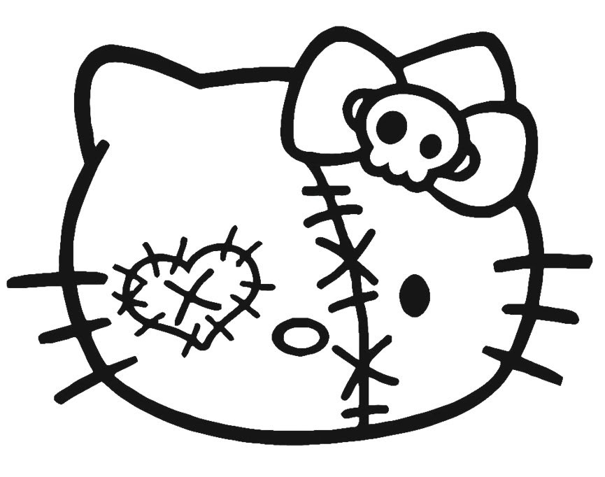 Zombie Coloring Pages Cats Coloring And Drawing