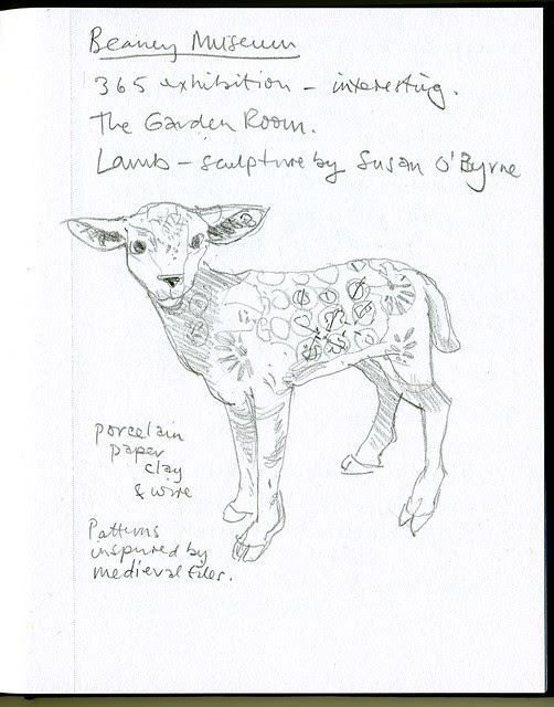 Sketch: Lamb - sculpture by Susan O'Byrne