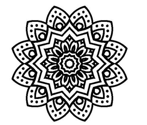 Resultado De Imagen Para Mandalas En Blanco Y Negro Para