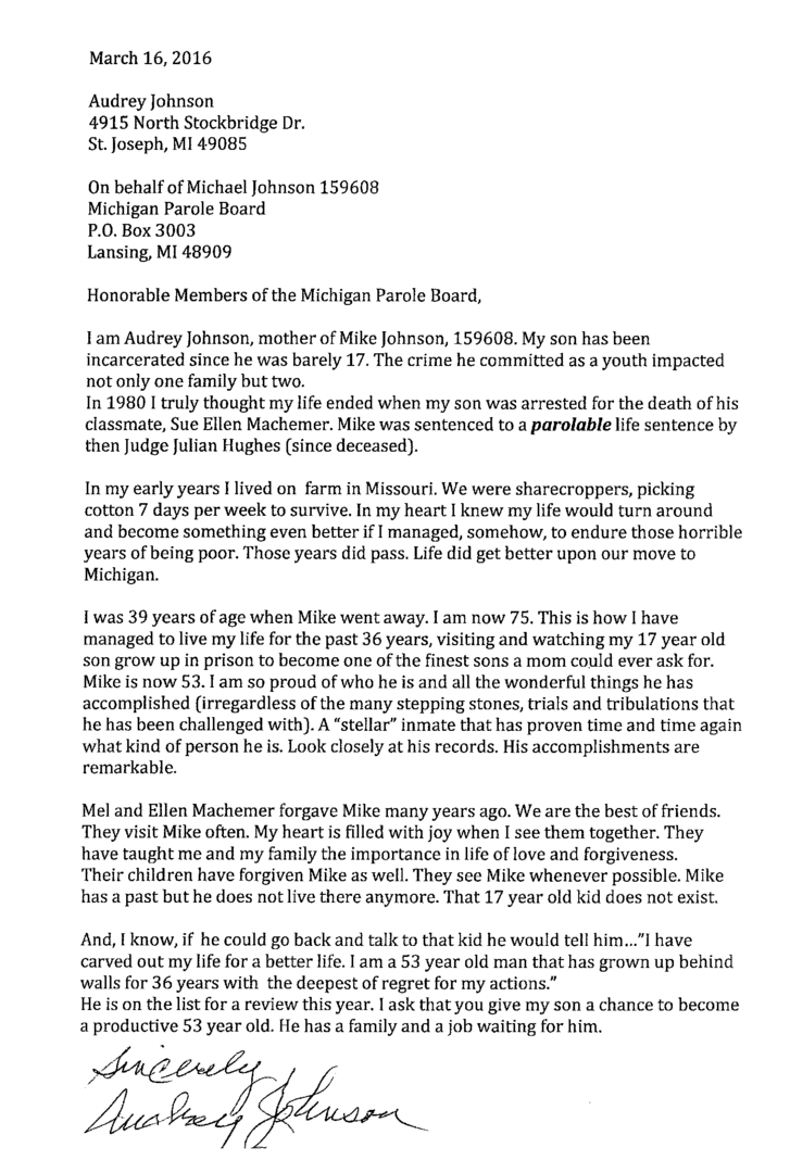 parole letter of support sample  pdf template