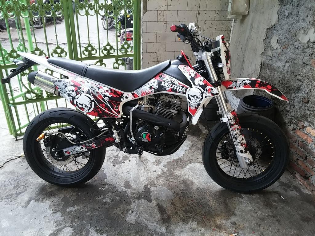 40 Gambar Modifikasi Kawasaki Klx 150 Keren Terbaru Modif Drag
