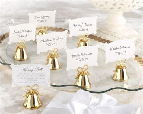 campanelle segnaposto dorate 31426   Sposalicious