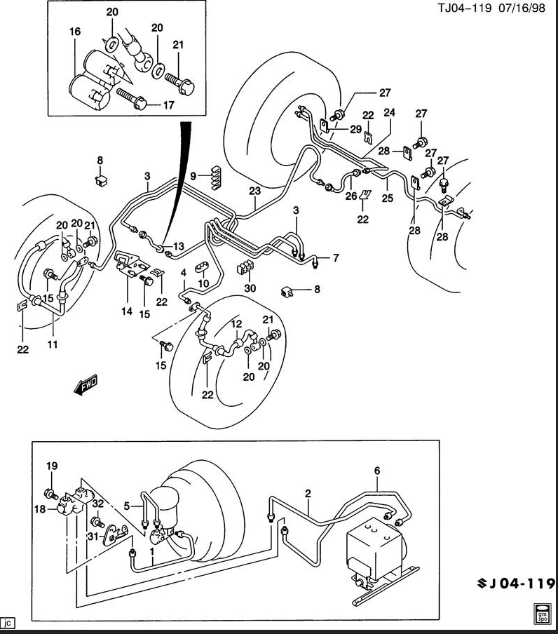 Wiring Diagram  30 S10 Brake Line Diagram