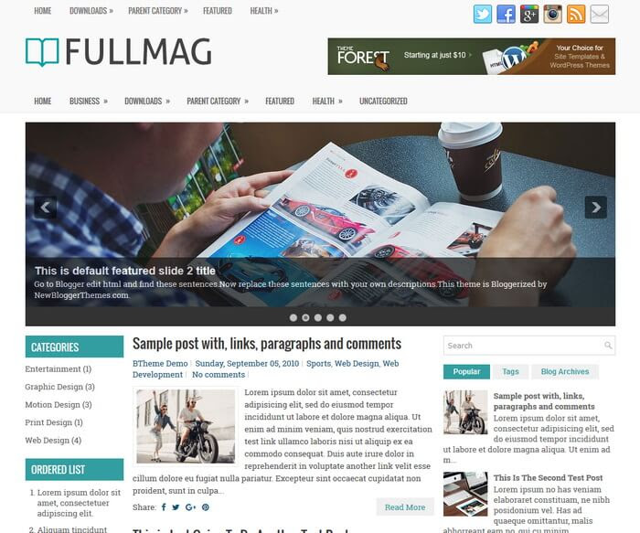 FullMag Blogger Template