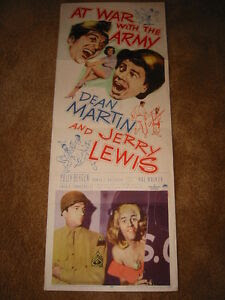 DEAN MARTIN JERRY LEWIS COLLECTION All 16 FILMS ORIGINAL 14x36 INSERT POSTERS