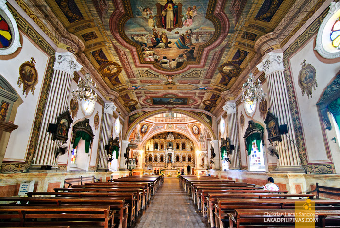 Inside Betis Church in Guagua, Pampanga