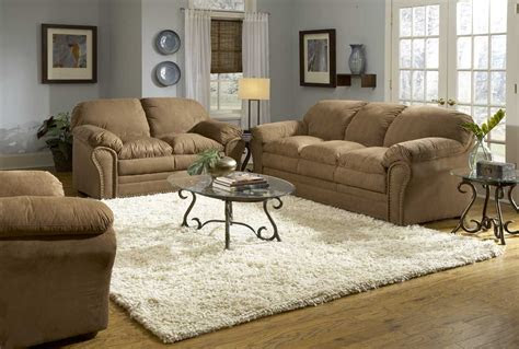 interesting brown couch gray wall interior design ideas