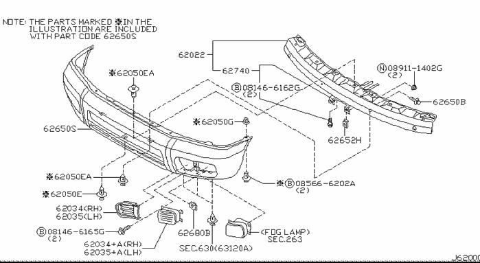 I need a diagram of the front end of a 1997 nissan ...