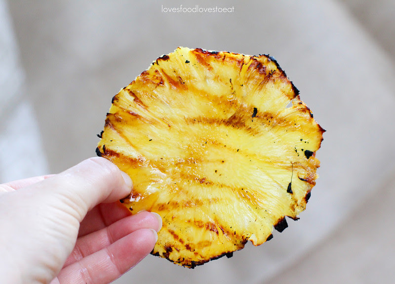Hawaiian Sliders with Grilled Pineapple & Teriyaki Mayo// Loves Food, Loves to Eat