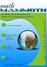 cover for Math Mammoth Grade 5-A Complete Worktext, South African version