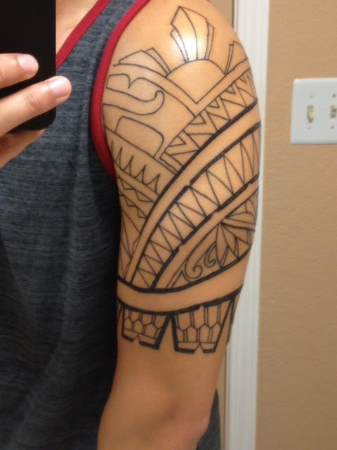 Tribal Filipino Tattoo On Left Sleeve