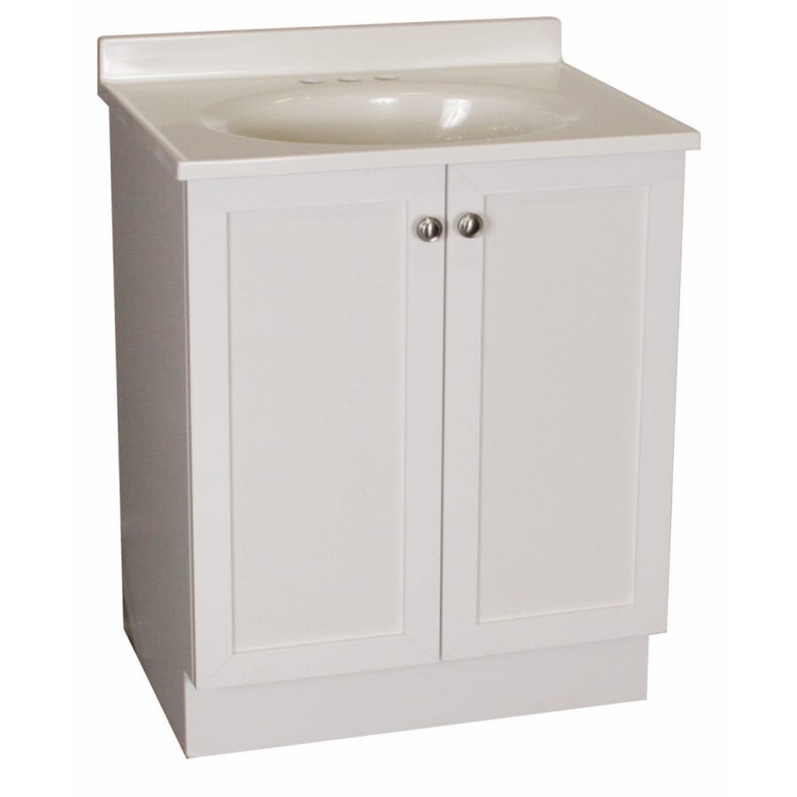 Project Source 19 In White Estate Single Sink Bathroom Vanity With Top In The Bathroom Vanities With Tops Department At Lowes Com