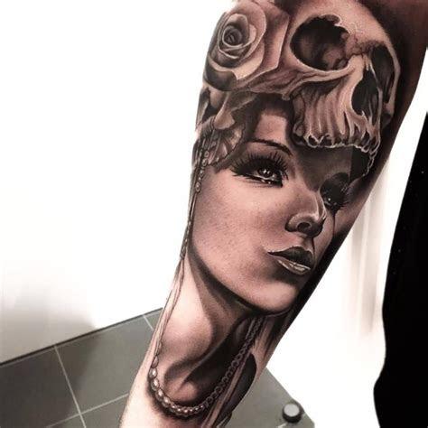 arm tattoo face amazing concept