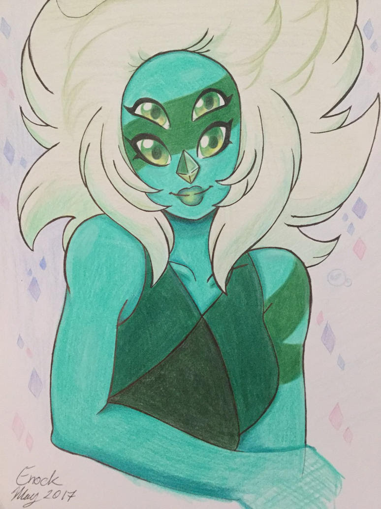 On my spare time, I would catch up on Steven universe. I fall in love with two characters. Malachite is my favourite fusion. Did this by Crayola pencils colors...that's really all I have is school ...