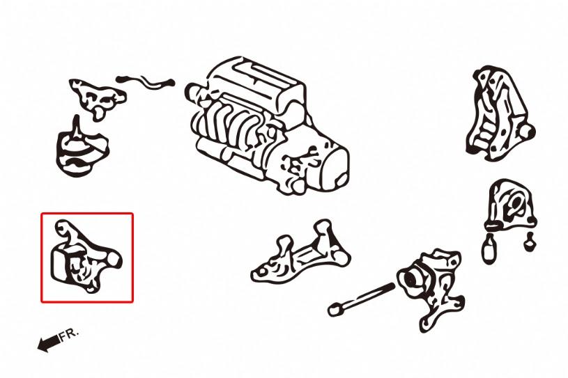 Hardrace Front Engine Mount Street Manual Trans 02 06 Rsx Dc5 02 05 Civic Si Ep3 7865 Buyhardrace Com