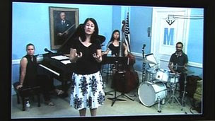 telepresence in a jazz music class