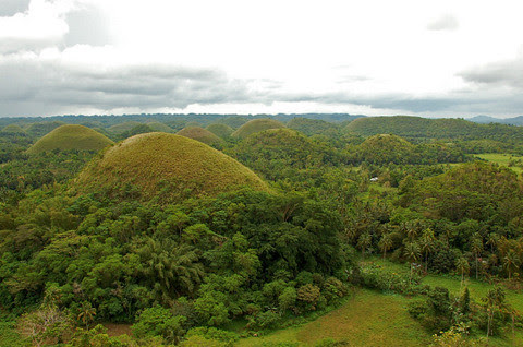 rounded chocolate hills