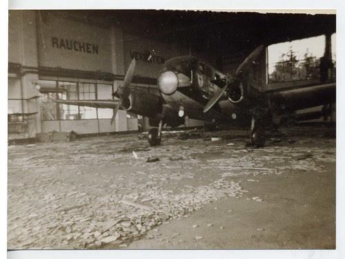 German warplane, Belgian airfield