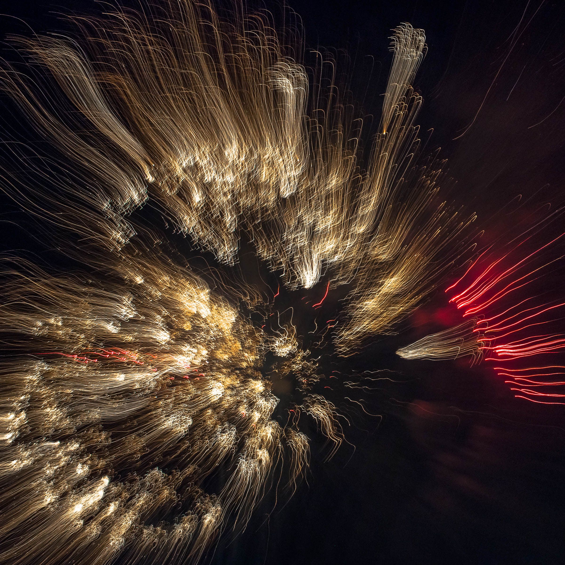 Fireworks Photography Print Chromalux On Alu 20 X 20 Cm 8 X 8 In