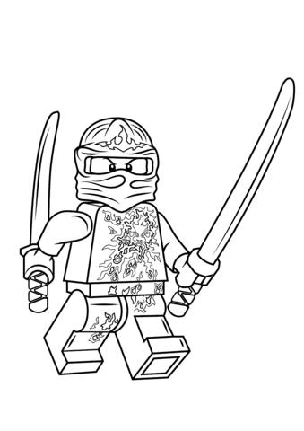 lego ninjago kai nrg coloring page  free printable