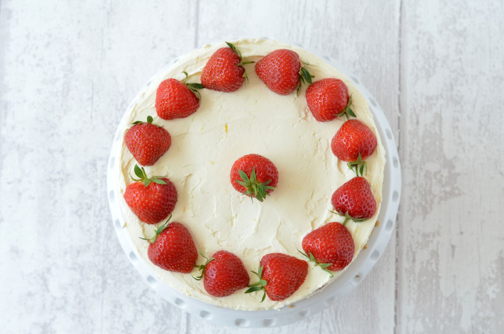 Strawberry and Lemon Cheesecake