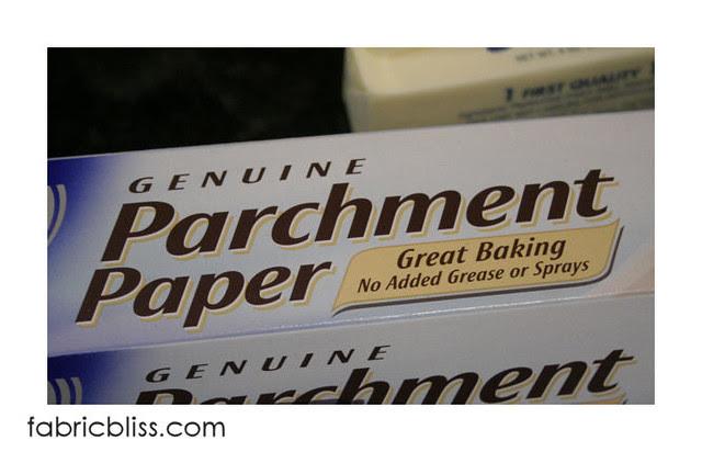 flourless chocolate cake - parchment paper