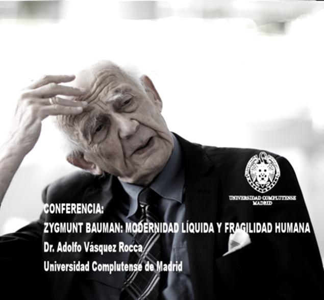 adolfovrocca:  VÍDEO Capítulo 2.0- ZYGMUNT BAUMAN; MODERNIDAD LÍQUIDA Y FRAGILIDAD HUMANA Dr. Adolfo Vásquez Rocca CANAL + OBSERVACIONES FILOSÓFICAS  VÍDEO 2.0: ZYGMUNT BAUMAN; MODERNIDAD LÍQUIDA Y FRAGILIDAD HUMANA Adolfo Vásquez Rocca D.Phil Ciclo FILÓSOFOS CONTEMPORÁNEOSCANAL + REVISTA OBSERVACIONES FILOSÓFICASDirección AudioVisual: Andrés Vásquez López Universidad de ValparaísoVer:http://youtu.be/pZDoCEg8mywZygmunt Bauman Por Adolfo Vásquez Rocca D.Phil.CANAL OBSERVACIONES FILOSÓFICAS Canal - Revista Observaciones Filosóficas Ver Vídeo: ↓ http://youtu.be/pZDoCEg8myw ZYGMUNT BAUMAN; MODERNIDAD LÍQUIDA Y FRAGILIDAD HUMANA  La modernidad líquida —como categoría sociológica— es una figura del cambio y de la transitoriedad, de la desregulación y liberalización de los mercados. La metáfora de la liquidez —propuesta por Bauman— intenta también dar cuenta de la precariedad de los vínculos humanos en una sociedad individualista y privatizada, marcada por el carácter transitorio y volátil de sus relaciones.  El amor se hace flotante, sin responsabilidad hacia el otro, se reduce al vínculo sin rostro que ofrece la Web. Surfeamos en las olas de una sociedad líquida siempre cambiante —incierta— y cada vez más imprevisible, es la decadencia del Estado del bienestar. La modernidad líquida es un tiempo sin certezas, donde los hombres que lucharon durante la Ilustración por poder obtener libertades civiles y deshacerse de la tradición, se encuentran ahora con la obligación de ser libres asumiendo los miedos y angustias existenciales que tal libertad comporta; la cultura laboral de la flexibilidad arruina la previsión de futuro. ZYGMUNT BAUMAN; MODERNIDAD LÍQUIDA Y FRAGILIDAD HUMANA http://youtu.be/pZDoCEg8myw    La postmodernidad y sus descontentos.   Estados transitorios y volátiles de los vínculos humanos.   Vidas desperdiciadas: La modernidad y sus parias.   Miedo líquido: La sociedad contemporánea y sus temores.   Adicción a la seguridad y miedo al miedo.   El régimen del sa