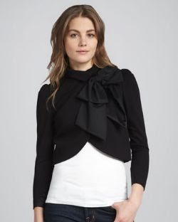 Alice + Olivia Addison Bow Collar Jacket