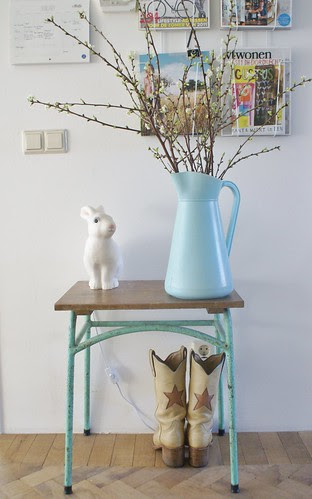 winter with a hint of spring by wood & wool stool
