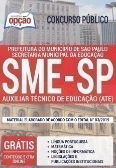 Apostila Concurso SME SP - Auxiliar Técnico de Educação - ATE