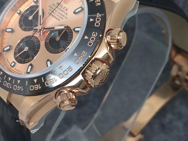Noob Replica Rolex Daytona Rose Gold Case