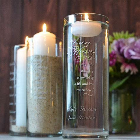 Personalized Wedding Memorial Candles, Vases, Frames, Crosses