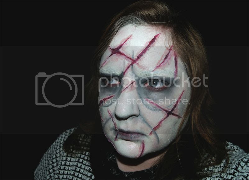 Girl from the Exorcist Halloween makeup tutorial, SFX, Horror