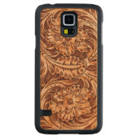 Exotic Tooled Leather Look Carved® Maple Galaxy S5 Slim Case