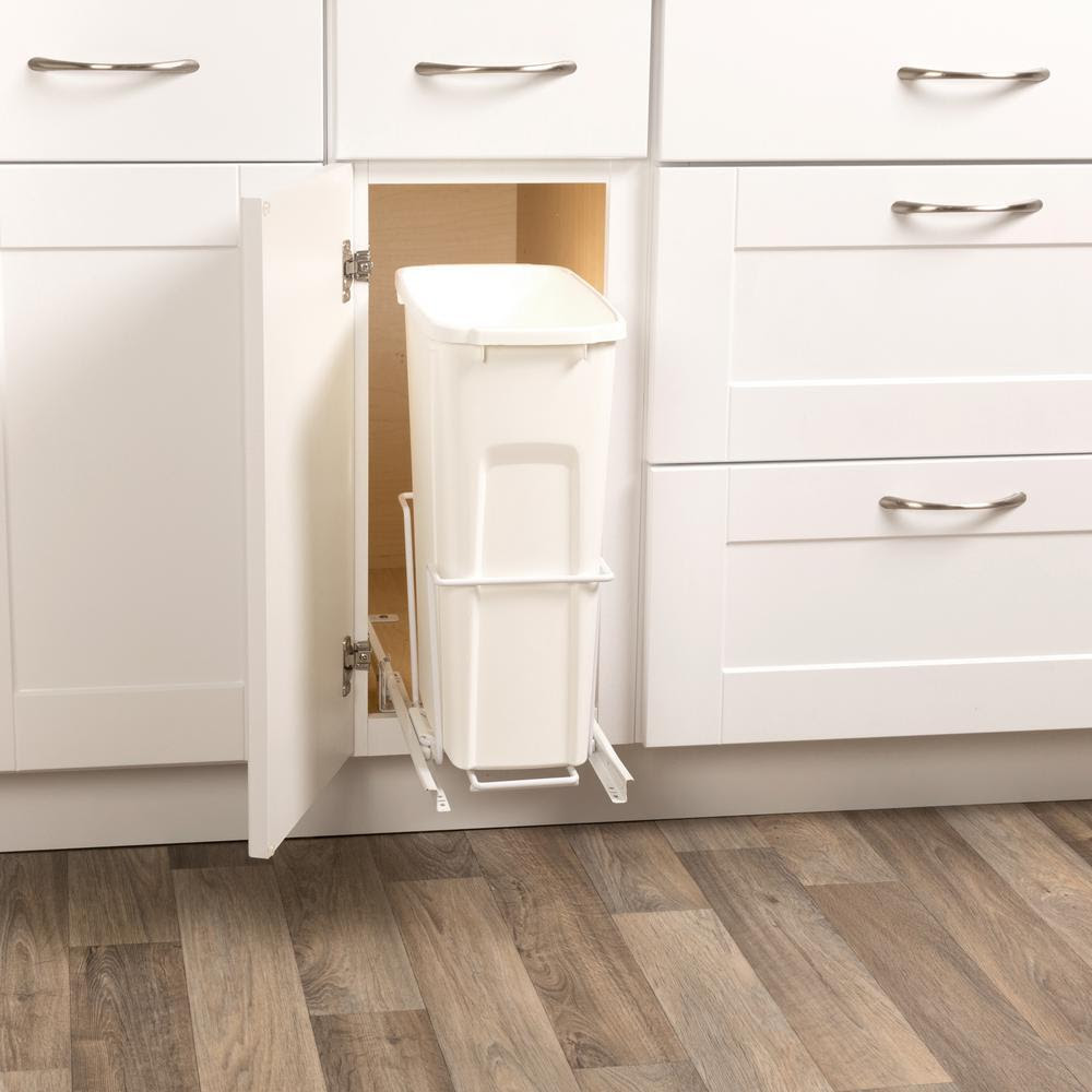 Kitchen Slide Pull Out In Kitchen Cabinet Trash Can Waste ...