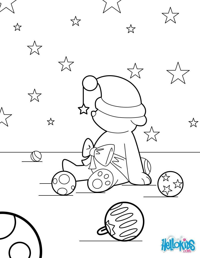 König Melchior Magier Teddy und Weihnachtskugeln