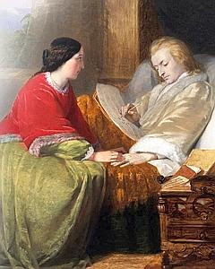 Wolfgang Amadeus Mozart, sous le regard de sa femme, Constance, composant sur son lit de mort le célèbre Requiem (tableau de William James Grant). Le compositeur autrichien disparut à 35 ans avant d'avoir pu le terminer. (AKG-Images/Leemage)