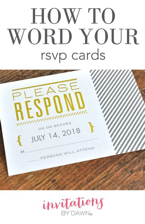 How to Word Your RSVP Cards   Invitations by Dawn