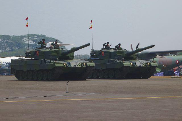 El Ministerio de Defensa de Indonesia ha contratado con el Grupo Rheinmetall de Düsseldorf para suministrarle 103 Leopardo 2A4 tanque de batalla principal y 43 Marder 1A3 rastreado vehículos de combate de infantería blindados, apoyo logístico y municiones valor aproximado de € 216 millones. El contrato, que se firmó en diciembre de 2012, que ahora entra en plena vigencia después de la finalización con éxito de todas las formalidades legales.