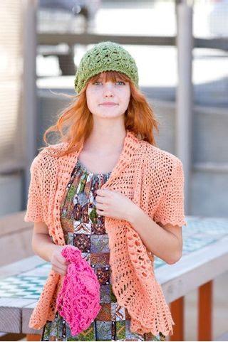 Encaje patrón de palo de escoba sombrero del ganchillo