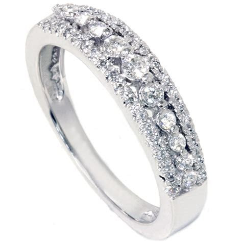 1/4ct Diamond Anniversary Wedding Ring 10K White Gold