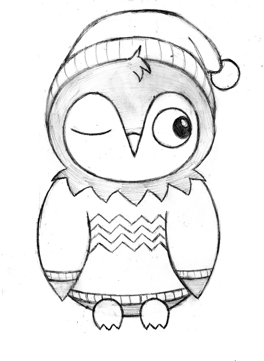 Simple Flying Owl Drawing at GetDrawings | Free download