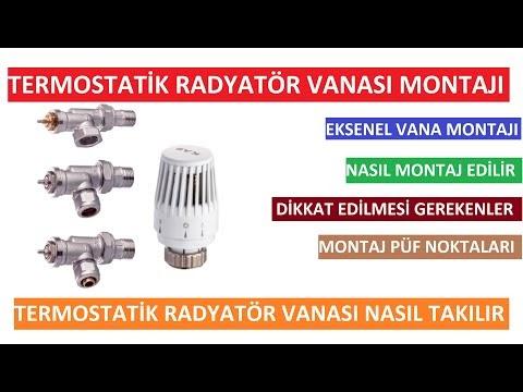 Termostatik Radyatör Vanası Montajı | Eksenel Termostatik Radyatör Vanası Nasıl Takılır