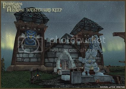 Postcards of Azeroth: Westguard Keep, by Rioriel Ail'thera