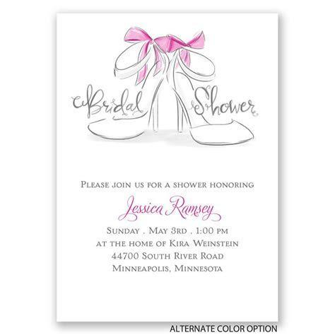 Wedding Shoes Mini Bridal Shower Invitation   Invitations