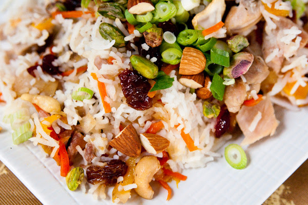 Persian jewelled rice with chicken