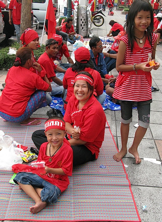 family with Redshirts
