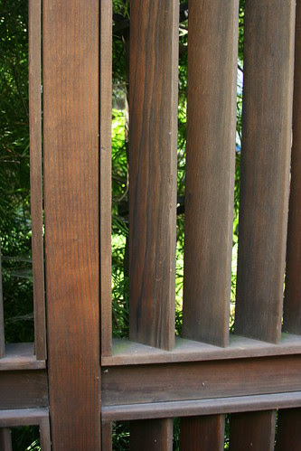louvered fence detail